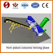 Placa plana MD1800 10-16m3 / h planta mezcladora de hormigón móvil, planta mezcladora de hormigón. Planta de hormigón