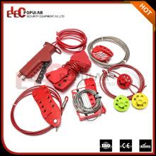 Элегантная горячая продажа Индивидуальный цветной многоцелевой аварийный стопорный кабель LockOut