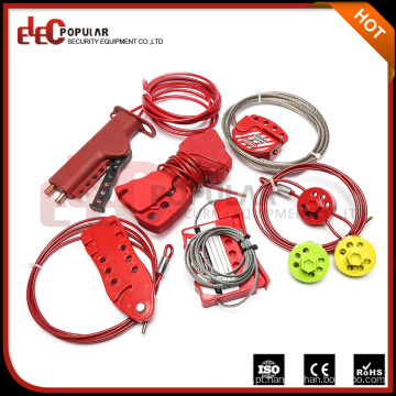 Elecpopular Hot Sale Customized Color Multipurpose Emergency Stop Cable LockOut