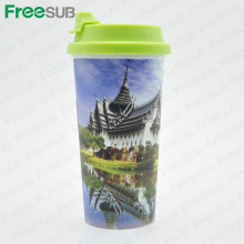 Free Blank White Sublimation Plastic Straight Blank Mug