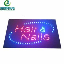 Hidly Special Design Reasonable LED Indoor Hair and Nails Sign