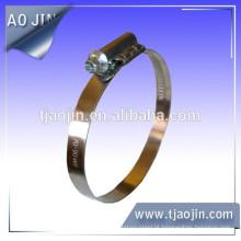 Mangueira braçadeira fabricantes China largura de banda 9 milímetros worm unidade tubo grampo tubo clip sem soldagem