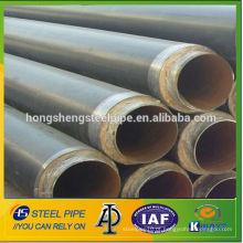 Anti-corrosão 3PE ERW revestido api5l lsaw tubos de aço