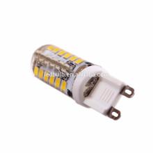 Alta qualidade CE e ROHS base de cerâmica G9 3000 lumen levou luz de bulbo com tampa de silicone, 3 anos de garantia