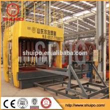 Máquina de configuración hidráulica del extremo del canal inclinado / cabeza del tanque que hace la máquina / máquina principal de la fabricación de la cabeza