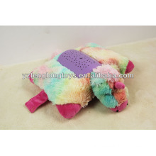 HOT SALE! New design stuffed plush colorful unicorn shaped projection toy