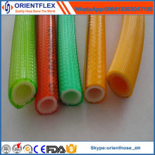 Tuyau de jet à haute pression de PVC de renfort de polyester à haute résistance
