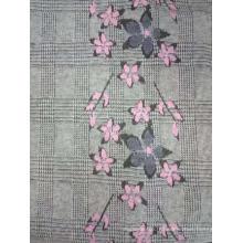 tissu brossé jacquard teint en fil