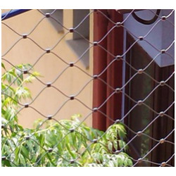 Vente chaude de tissage à la main en acier inoxydable Zoo câble Net