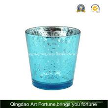 Porte-bougie en verre de mercure de galvanoplastie pour la décoration de Noël