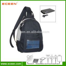 soft solar students bag with 2200mah battery