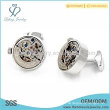 Heißer Verkauf kupferner Uhrenmanschettenknopf, weißer Stahlmanschettenknopf, eleganter Manschettenknopf