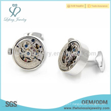 Hot selling copper watch cufflink,white steel cufflink,elegant cufflink