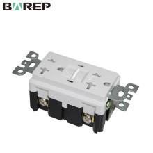 Prise électrique 20A 125V GFCI prise simple prise