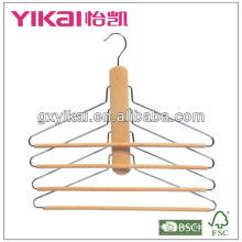 El ahorro de madera del espacio del hange de la manera de múltiples funciones para los pantalones