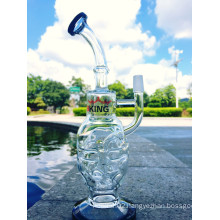 Faberge Egg Water Pipe Recycler Pipes Oil Rig Dabs Glass Pipe