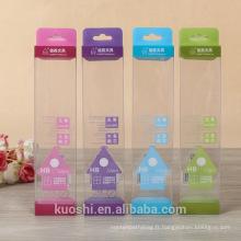 Emballage personnalisé transparent PVC PET transparent boîte en plastique