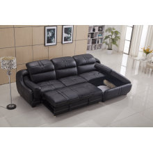 Blue Living Room Leather Sofa with Folding Function (Y998B)