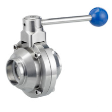 Stainless Steel Butterfly Type Ball Sanitary Valve