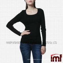 Alibaba usa Женская команда Шея Черный мериносовой шерсти осенний свитер