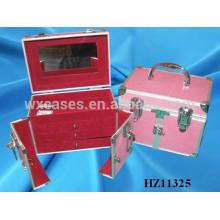 caso de cabeleireiro rosa de alumínio da China HZ11325