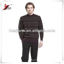 camisola de caxemira masculina de tiras clássicas