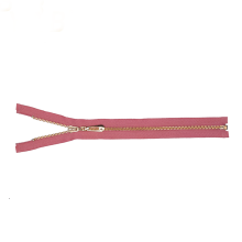 Pink Tape Brass Teeth Separating Zipper for Jacket