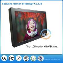VESA montage ou bureau TFT 7 pouces moniteur HDMI avec 12 volts DC