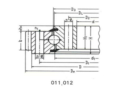 Single Row Slewing Bearing-External Gear
