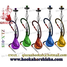 Colored Big Hookah With Water Droplets Shape Hookah Bottle