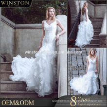 new style alibaba v neck wedding dresses royal or cathedral trains