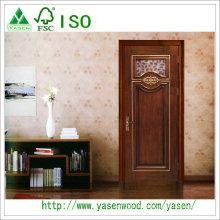 Porte de bois massif à entrée de luxe Portes de Chine