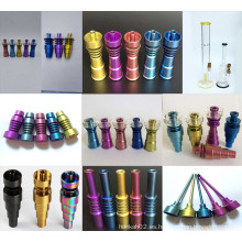 Venta al por mayor Ajustable Domless Titanium Nails