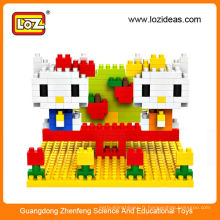 Hot Selling LOZ Petites particules Diamond DIY Originality Splicing Toy Block Kitty
