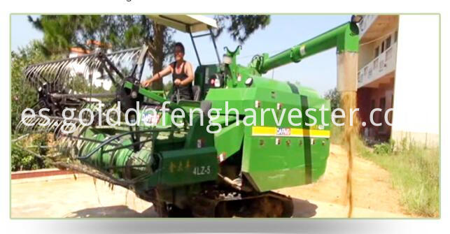 Self-propelled full feed rice combine harvester--Unloading