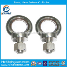 Stainless Steel M12 Drop Forged flat DIN580 eye bolt from jiaxing supplier