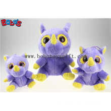 En71 Approved Promotion Toy Big Eyes Plush Purple Hippo Animal Toys Bos1170