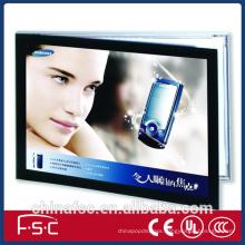 Black frame LED magnetic light box