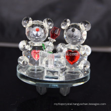 Wholesale Lovely K9 Crystal Teddy Bear For Decoration