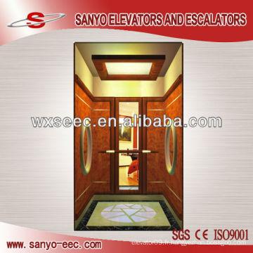 Ascenseur de cabine en bois de teck (TKJ-SEE-CP14)