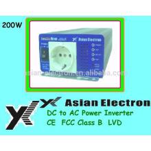 Inversor de onda sinusoidal puro de 200W com micro processador MADE IN TAIWAN