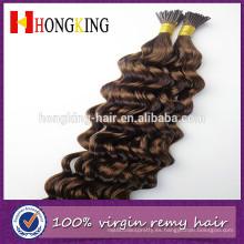 al por mayor inclino extensiones de cabello rizado rizado