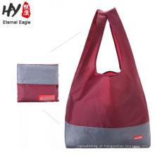 Sacos de compras baratos de dobramento impermeáveis de nylon de 65 * 40 * 15cm