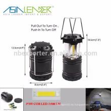 Asien Leader Produkte BT-4808 3 * 3W 1500 Lumen COB Teleskop-Camping Licht
