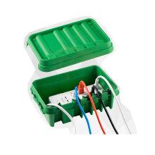 Le boîtier de connexion étanche d'origine pour l'intérieur et l'extérieur du boîtier de cordon d'alimentation électrique pour les câbles d'extension de minuterie SOCKiTBOX