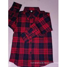 Kinder Baumwolle Flanell Y / D Karo Langarmhemd