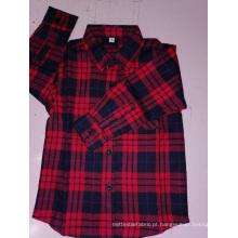 Camisa infantil de algodão flanela y / d xadrez