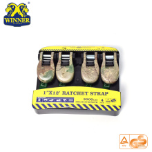 4PC camouflage attache sangle en nylon cargo