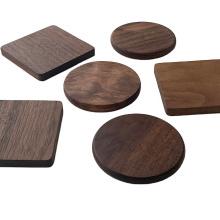 Black walnut solid wood coaster