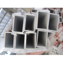 6061 t6 Aluminium Rechteck Rohr Pulverbeschichtung milchig weiß Farbe